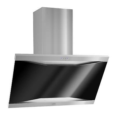 90 Cm Extractor Cooker Hood Air Modern Steel Glass Built-In Hood 590 M³/h Fumes