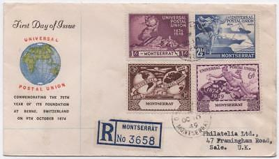 MONTSERRAT: 1949 UPU Examples on Registered First Day Cover to Sale (11646)
