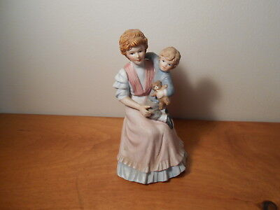 #1460 Lady with boy Victorian Figurine  Vintage Home Interiors