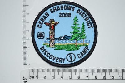 Girl Guides Canada Cedar Shadows District Discovery Camp Crest Badge Patch Scout