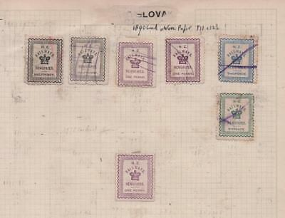 NEW ZEALAND: 1890 Newspaper Stamps - Ex-Old Time Collection - Album Page (11582)