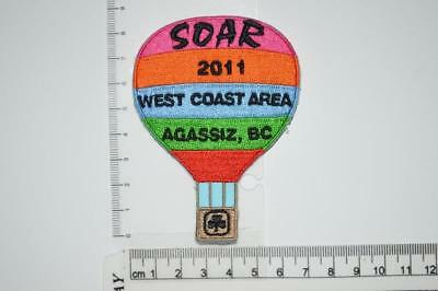 Girl Guide Canada SOAR 2011 West Coast Area BC Provincial Camp Crest Badge Patch