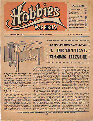 Vintage Hobbies Weekly Magazine, January 2nd 1952 No 2931