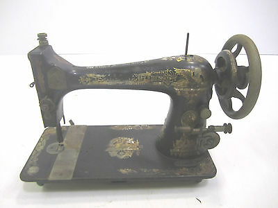 Vtg Singer Treadle Sewing Machine Model 27 Sphinx 1907 For Parts Or Restore