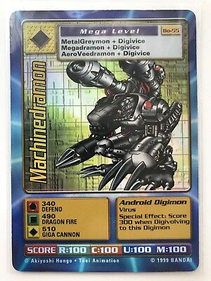 Holographic Machinedramon Digimon Card