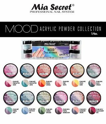 Mia Secret Mood Color Changing Acrylic Nail Powder Collection Set 12 0.25 Oz