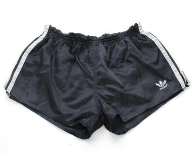 Vintage 1970's Black Adidas Sprinter Shorts West Germany 30-34""