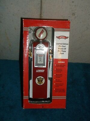 Wayne 60 Lennox Limited Edition Die Cast Gas Pump Bank 1:12 Scale Globe Lights