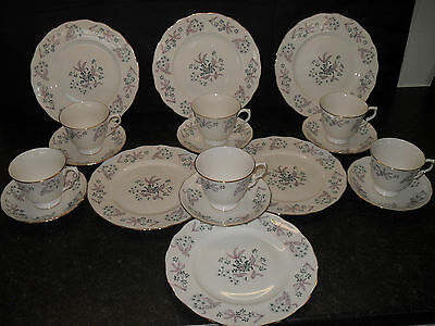 Stunning Colclough Adam English Bone China Tea Set Vintage Retro Pattern 8366