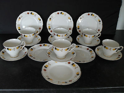 Royal Stafford English Bone China Tea Set Vintage Retro Antique