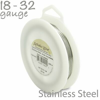 Stainless Steel Artistic Wire Tarnish Resistant Craft Wire - 1/4lb Spool