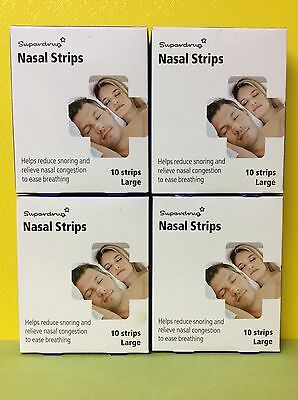 4 PACKS  Large Snoring Relief Nasal Strips 10 - Helps Reduce Snoring