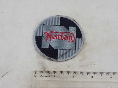 "Norton motorcycle cloth badge for leather jacket etc 3"" diameter. nice & clean"