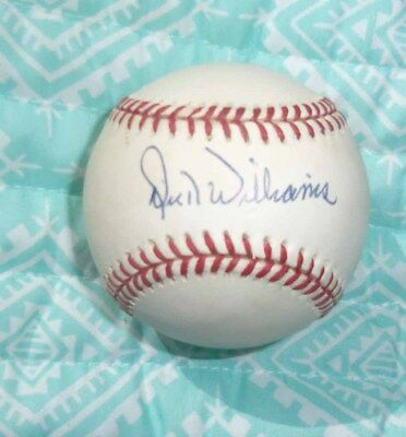 A's DICK WILLIAMS signed Official American League Baseball