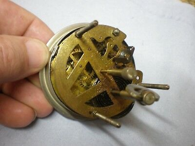 Clock Movement Small 30 hour Bezel & Dial parts mantle wall wood china spares
