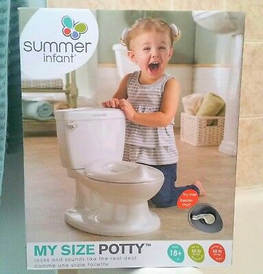 Summer Infant My Size Potty White Realistic Toilet For Babies