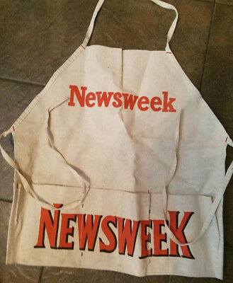 1960's Vintage Newsweek Paperboy Vendor Change Apron Advertising Apron