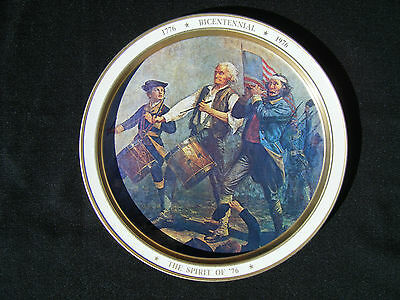 Bicentennial The Spirit of '76 Souvenir Tray Made in USA - Great Condition!