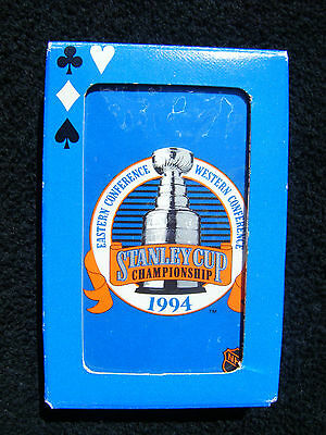 1994 Stanley Cup Eastern Conference Playing Cards Canadian Beer Box Promotion