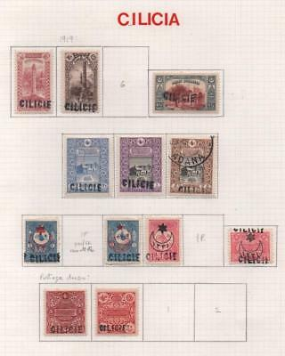 TURKEY/CILICIE: 1919 Overprints - Ex-Old Time Collection - Album Page (11536)