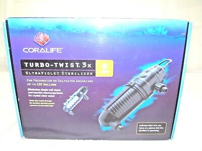 Coralife Turbo Twist UV Sterilizers 3x 9 Watts for Aquariums Up to 125 Gallons