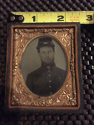 Civil War Union Soldier Tin Type (?)