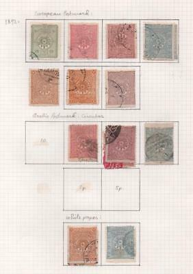 TURKEY: 1892 Used Examples - Ex-Old Time Collection - Album Page (11525)