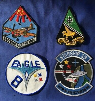 4 USAFA Patches 8th 40th 1st 19th Squadron  NEW U.S. Air Force Academy