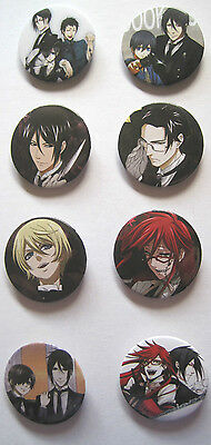 Kuroshitsuji / Black Butler Anime / Manga Pins #3 (Set of 8)