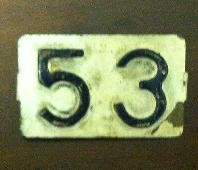 1953 RHODE ISLAND Tab for 1952 License Plate (53)