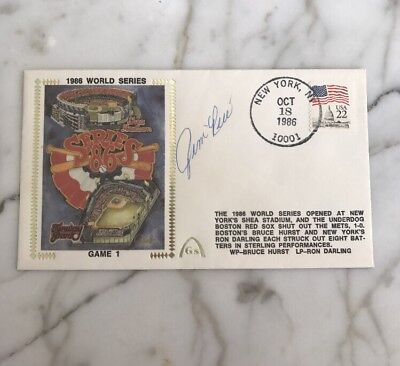 JIM RICE Signed Silk Cachet First Day Cover Auto 1986 World Series Red Sox