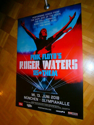 """MINT! 2018 XL 33"""" (84cm) Concert-Tour Promo Poster ROGER WATERS / PINK FLOYD"""