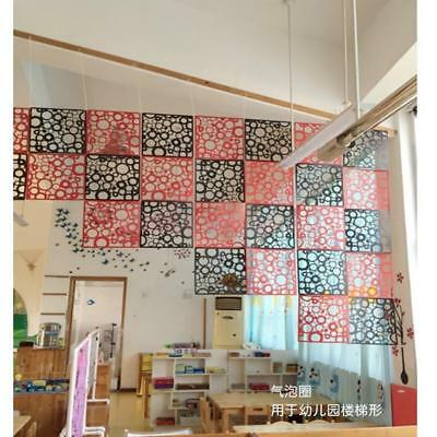 4pcs Hanging Screen Room Divider Partition Wall Sticker Panels Black Round