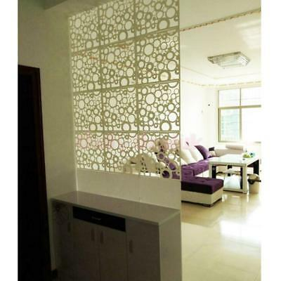 4pcs Hanging Screen Room Divider Partition Wall Sticker Panels White Round