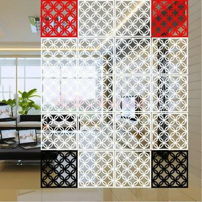 4pcs Hanging Screen Room Divider Partition Wall Sticker Panels Black Coins