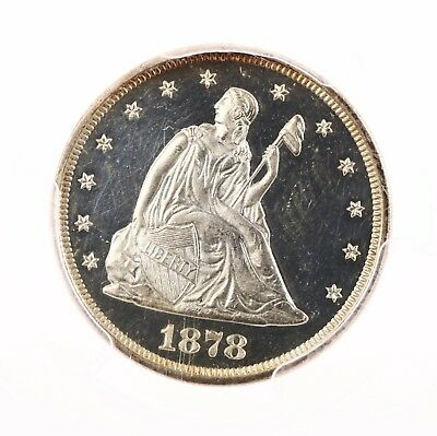 1878 Seated 20C PCGS Certified PR63CAM Cameo Silver US Twenty Cent Piece Coin PQ