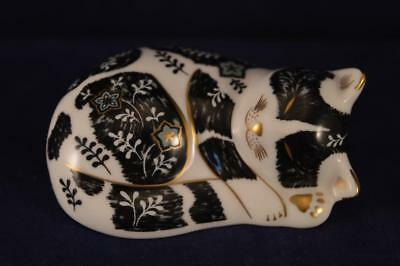 Royal Crown Derby  Misty Paperweight - Gold Stopper + Box