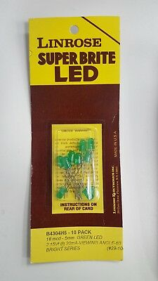 LINROSE SUPER BRITE GREEN LED LIGHT BULBS B4304H5 - 10 Pack