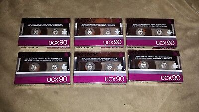 Lot of 6 Sony UCX90 Cassette Tapes - New - Sealed