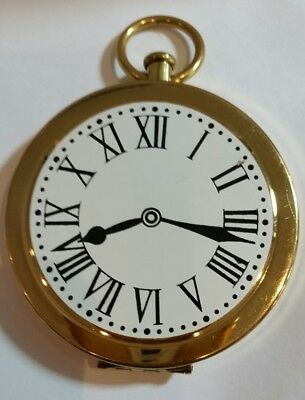 Vintage Wadsworth Novelty Train Steamer Figural Pocket Watch Compact. Must See!