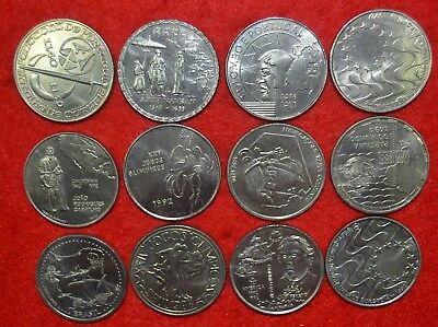 PORTUGAL 12 UNC 200$00 and 250$00 Commemorative /   COINS LOT