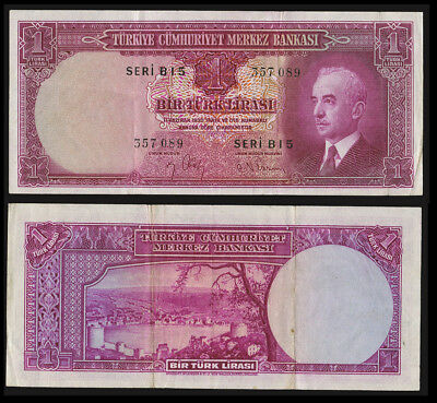 TURKEY 1942 1 Lira VF/EF P-135