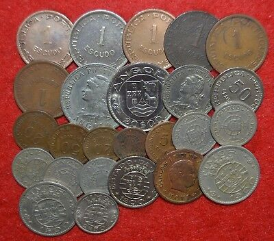 PORTUGAL COLONIES 25 COINS LOT  Angola / Moçambique / Timor / India