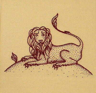 "Crewelwork Embroidery Kit ""Heritage Lion"" By Melbury Hill"