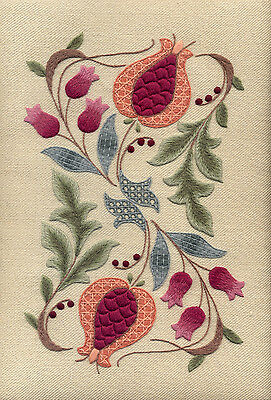 "Crewelwork Embroidery Kit ""Pomegranates And Rowan"" By Melbury Hill"