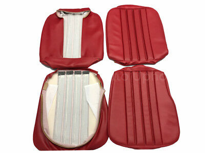 MERCEDES 230SL, 250SL, W113 1963-68 RED Seat Covers kit 63-71 MB - Tex Vinyl