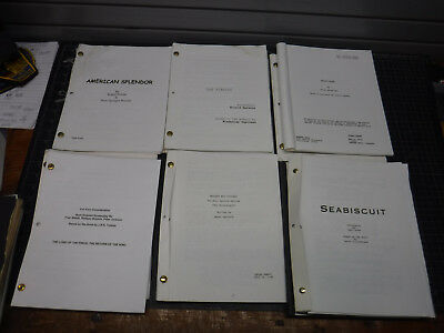 13 Script Lot Mystic River Pianist Lord Of The Rings Seabiscut Chicago Matrix