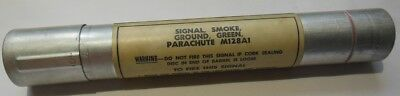 Empty Signal Smoke Ground Green Parachute M128A1 Container
