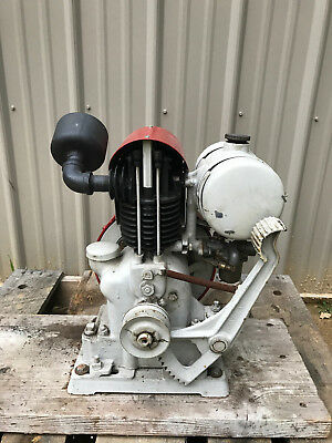 Vintage Nelson Brothers 1hp kick start engine hit miss motor READ SHIPPING INFO.