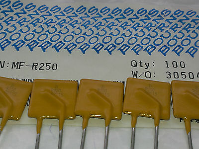 [25 pcs]. Bourns 2,5A Resettable Fuse (Multifuse) 30V MF-R250